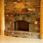 Rec Room fireplace